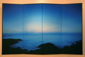 008-960四曲屏風「雲海」赤城山*