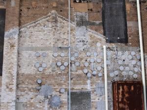 レンガの壁の影タイプ