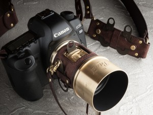 レンズのための専用レザーケース