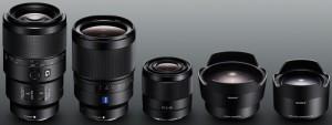 FE 35mm F1.4 ZA、FE 90mm F2.8、FE 28mm F2、コンバージョンレンズ