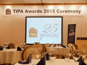 TIPA Awards 2015の受賞セレモニー