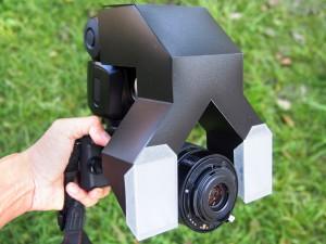 PENTAX Q-S1に自作照明とリバースレンズを装着