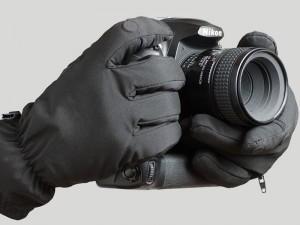 細かい操作が可能な撮影用手袋
