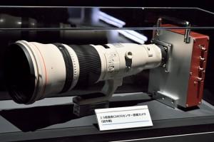 CMOSセンサーを搭載したカメラの試作機